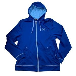 Under Armour Blue Zip Up Hoodie Sweatshirt